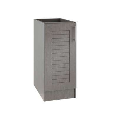 Assembled 12x34.5x24 in. Key West Island Outdoor Kitchen Base Cabinet with Full Height Doors Left in Rustic Gray