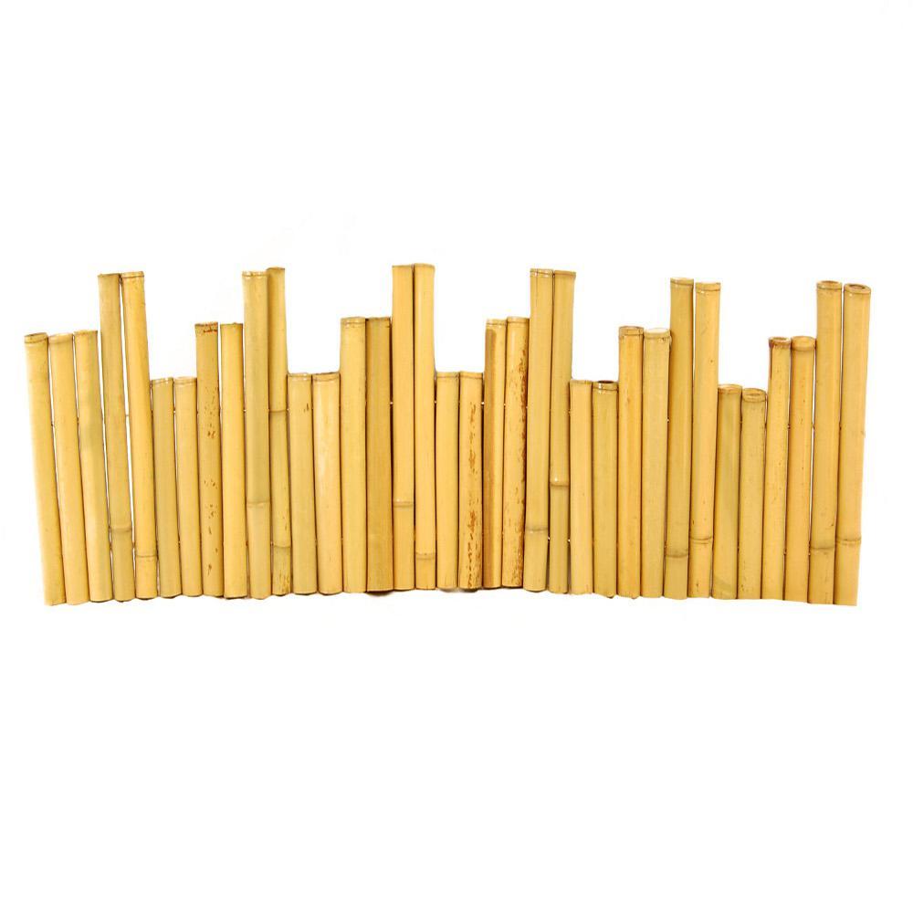 4 ft. Bamboo Border Edging (4-Piece)