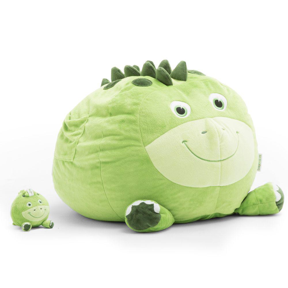 Sam the Stegosaurs Cozy Green Plush Bean Bag