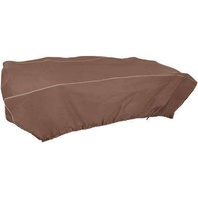 Rectangular 114 in. x 72 in. x 30 in. Brown Patio Set Cover