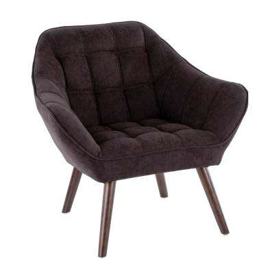 Boulder Charcoal Upholstered Arm Chair