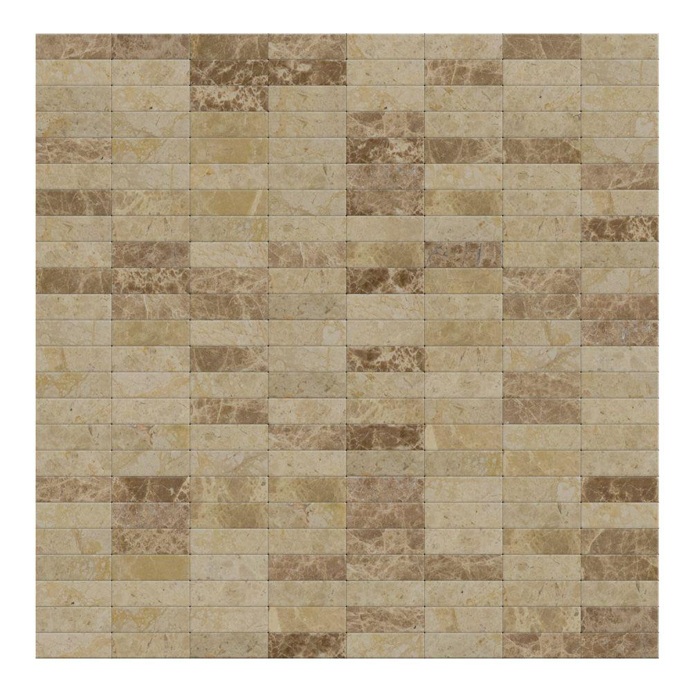 Lynx Mixed Brown 11 42 In X 57 5 Mm Stone Self Adhesive Wall Mosaic Tile 04 Sq Ft Case