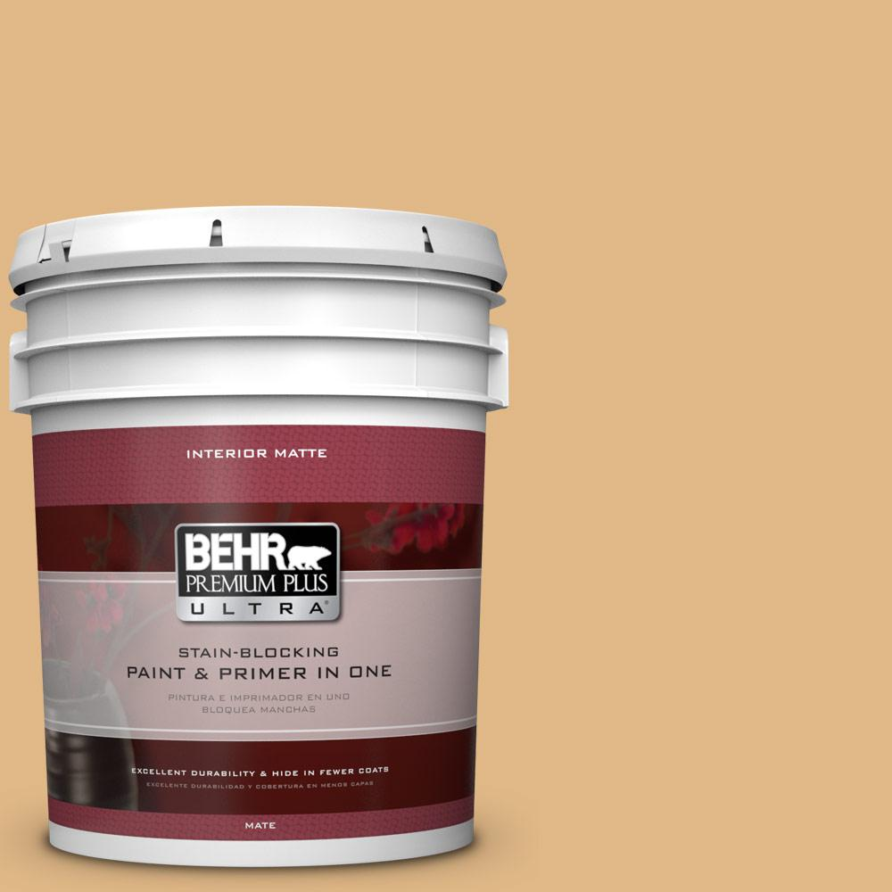 BEHR Premium Plus Ultra Home Decorators Collection 5 gal. #HDC-CL-18 Cellini Gold Flat/Matte Interior Paint