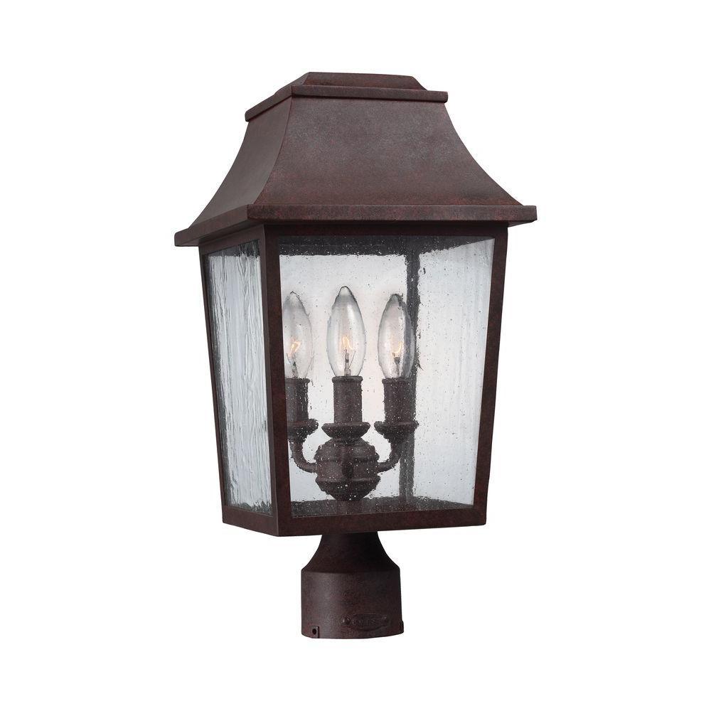 Murray Feiss Outdoor Lighting: Feiss Estes 3-Light Patina Copper Outdoor Wall Fixture