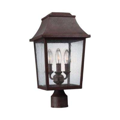 Estes 3-Light Patina Copper Outdoor 17.625 in. Wall Fixture