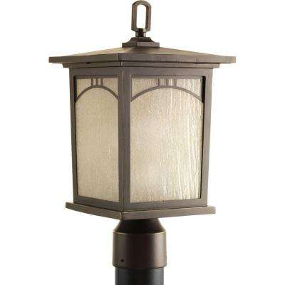 Residence Collection 1-Light Antique Bronze Outdoor Post Lantern