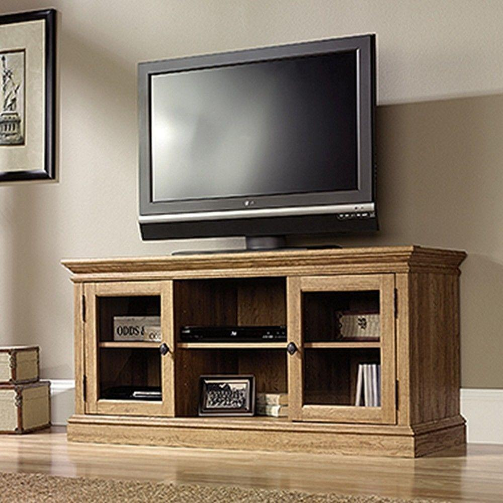Sauder Barrister Lane Scribed Oak Storage Entertainment