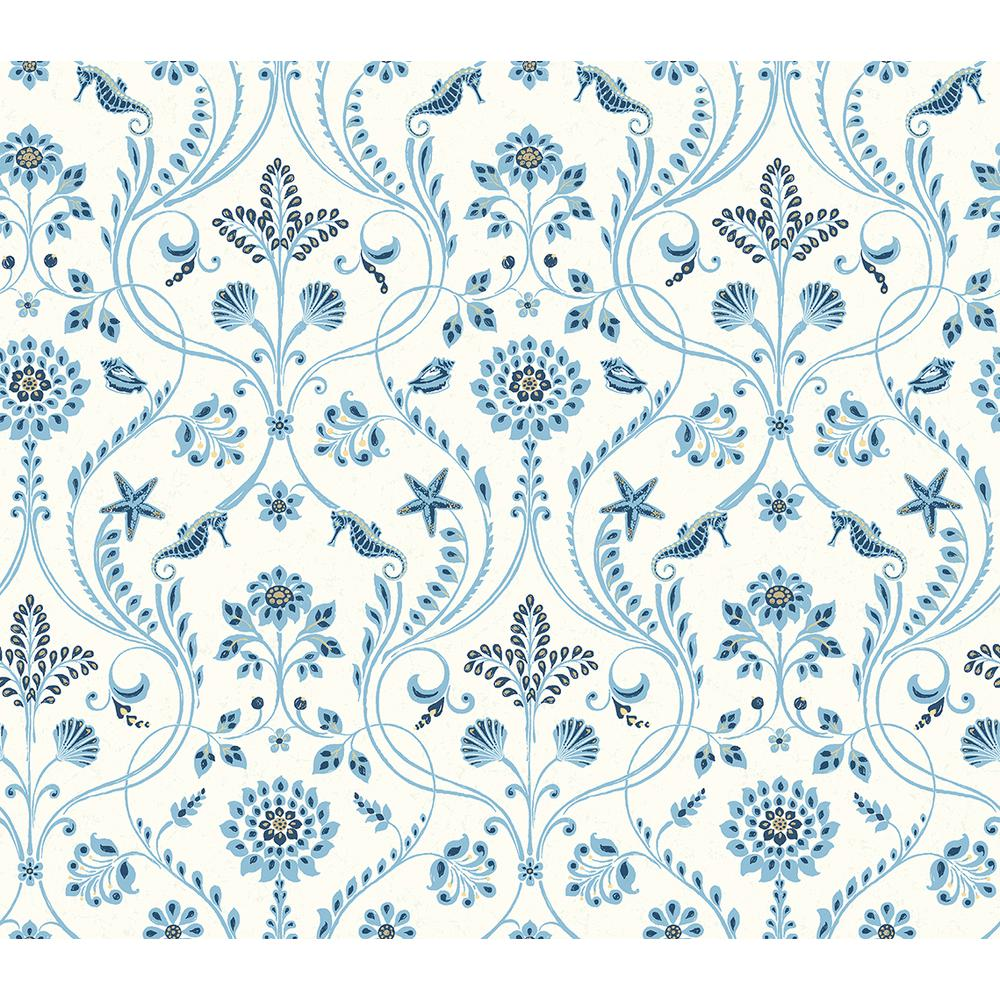 Chesapeake Island Blue Damask Wallpaper Sample 3113 12003sam The