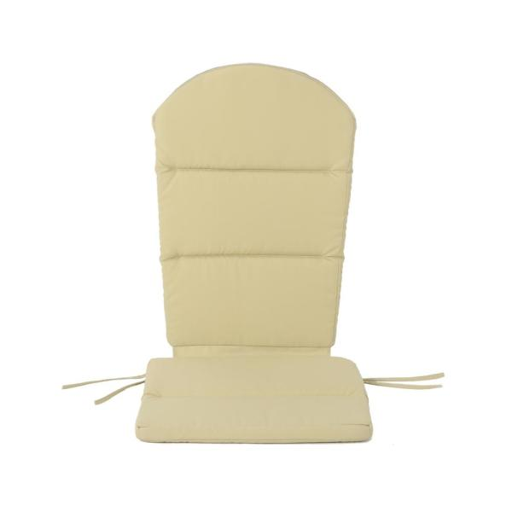 Malibu Khaki Outdoor Adirondack Chair Cushion (4-Pack)