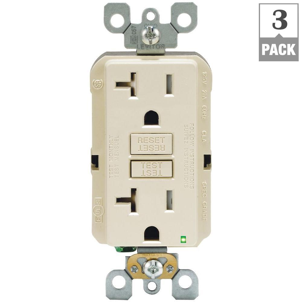 Faceless Electrical Outlets Receptacles Wiring Devices Light Bined Arc Fault Circuit Interrupter And On Gfci With 20 Amp 125 Volt Duplex Smartest Self Test Smartlockpro Tamper Resistant