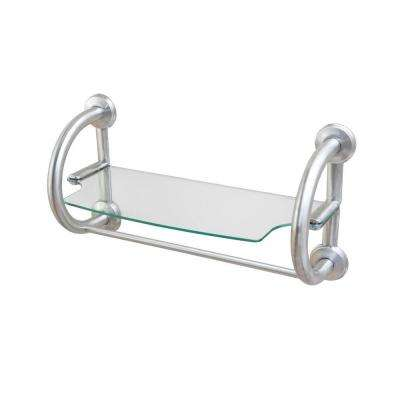 3-in-1 25.5 in. x 1.25 in. Grab Bar and Towel Shelf in Brushed Nickel