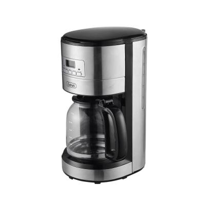 12-Cup Stainless Steel Programmable Drip Coffee Maker with Coffee Pot and Built-In Timer