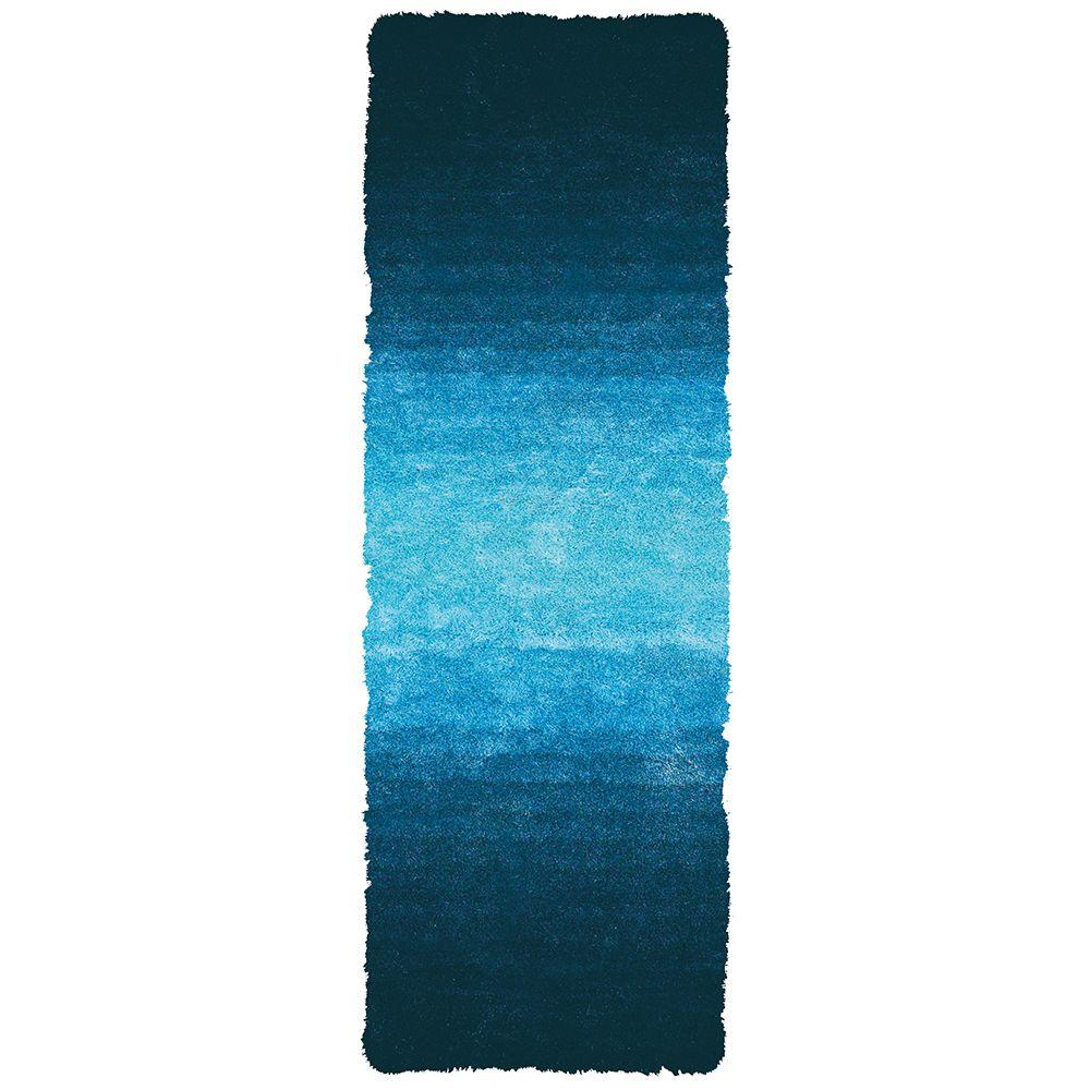 Feizy Indochine Blue 2 ft. 6 in. x 6 ft. Indoor Rug Runner