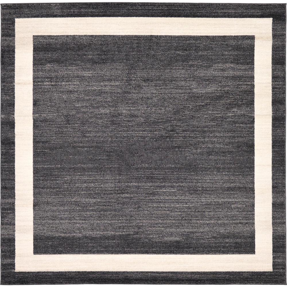 Unique Loom Del Mar Black 8 X Square Rug