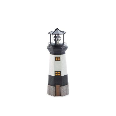 19.69 in. H Solar Lighthouse Statue