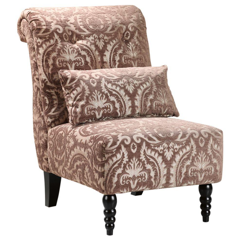 Home Decorators Collection Lainey Brown Tufted Slipper Chair
