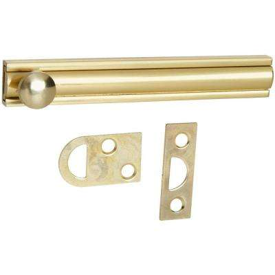 4 in. Surface Bolt in Solid Brass