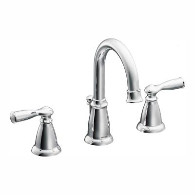 Banbury 8 in. Widespread 2-Handle High-Arc Bathroom Faucet in Chrome