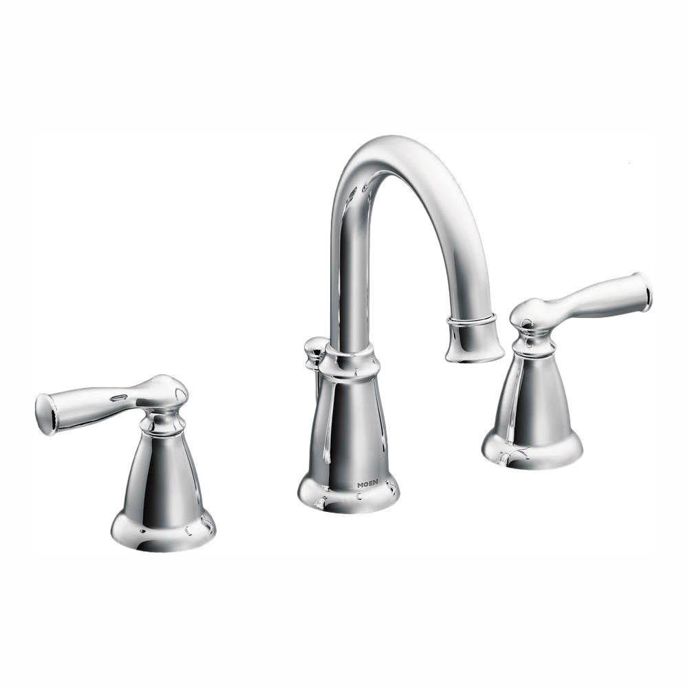 MOEN Banbury 8 in. Widespread 2-Handle Bathroom Faucet in Chrome