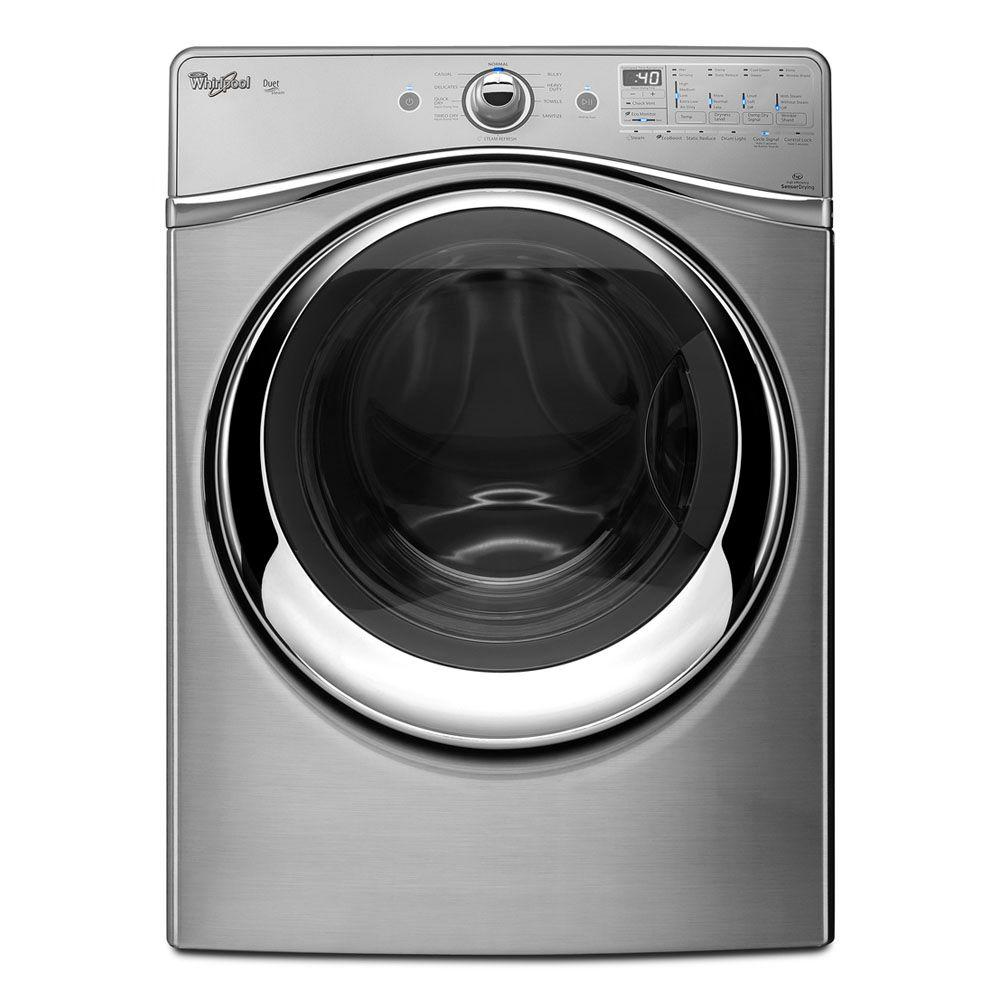 Whirlpool Duet 7.4 cu. ft. Gas Dryer with Steam in Diamond Steel-DISCONTINUED