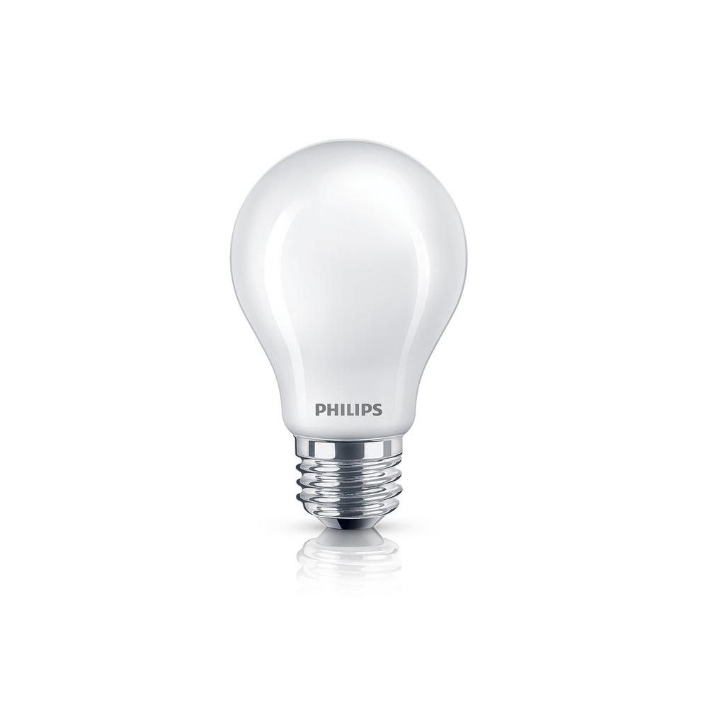 philips 40w equivalent daylight classic glass energy star certified a19 led light bulb 8 pack. Black Bedroom Furniture Sets. Home Design Ideas