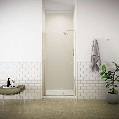 Fluence 31-1/2 in. x 65-1/2 in. Semi-Frameless Pivot Shower Door in Matte Nickel with Handle