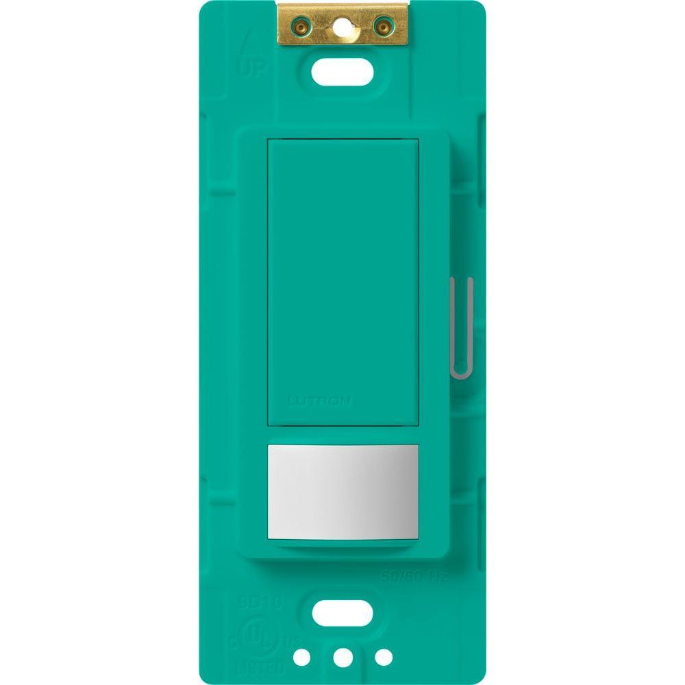 Maestro Motion Sensor switch, 5-Amp, Single-Pole or Multi-Location, Turquoise