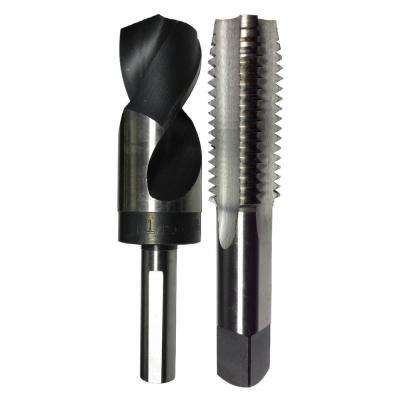 1 in. - 12 High Speed Steel Tap and 59/64 in. x 1/2 in. Shank Drill Bit Set (2-Piece)
