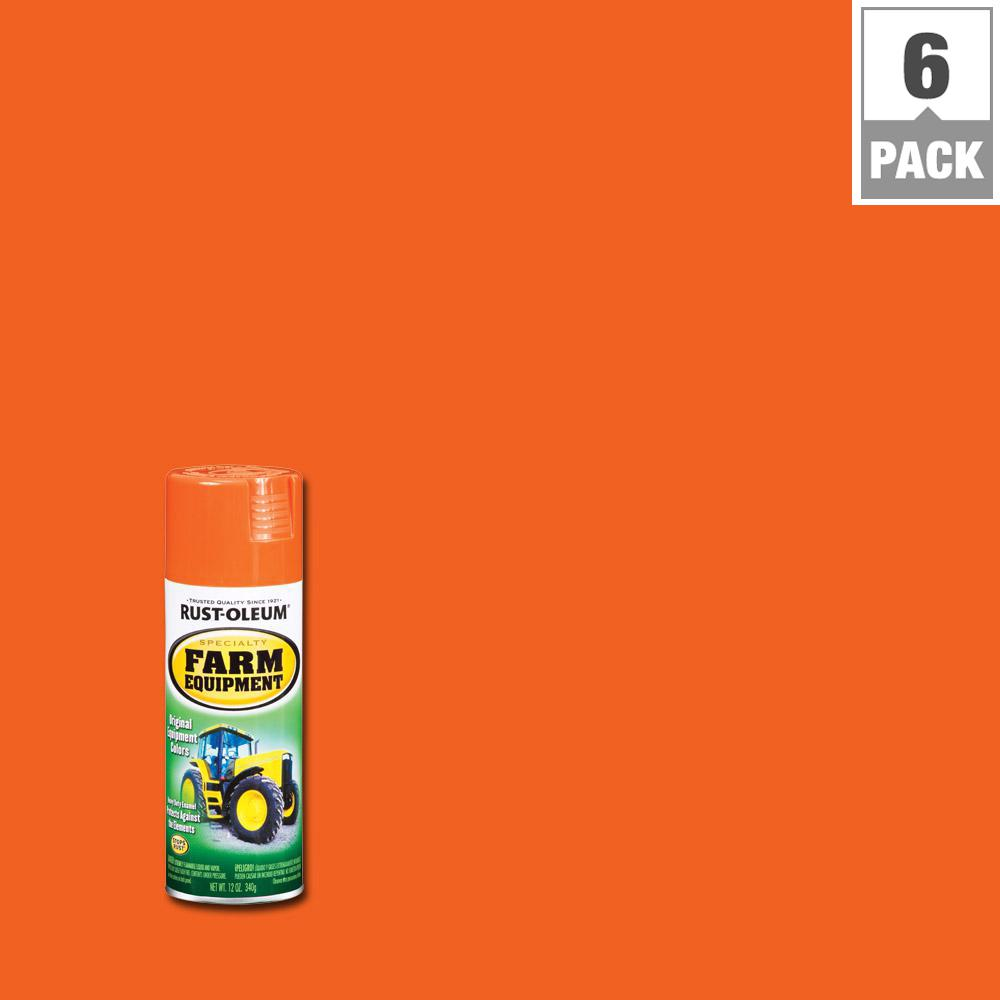 Rust-Oleum Specialty 12 oz. Orange Farm Equipment A Chalmers Spray Paint (6-Pack)