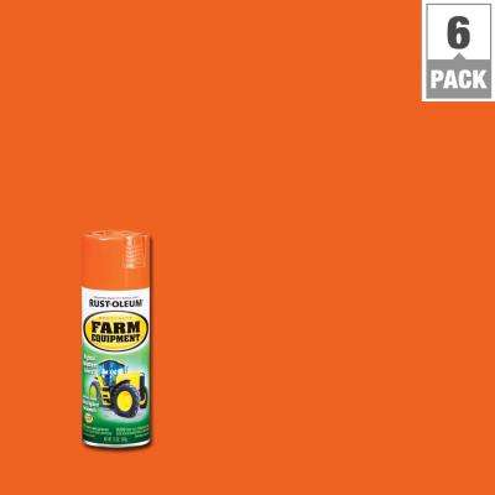 12 oz. Orange Farm Equipment A Chalmers Spray Paint (6-Pack)