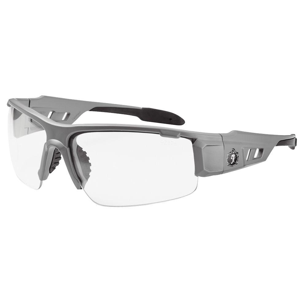 Ergodyne Ergodyne Clear Lens Matte Gray Safety Glasses