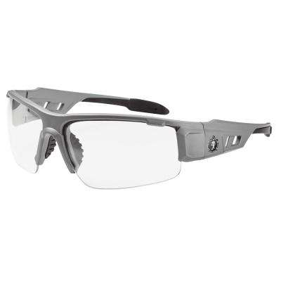 Clear Lens Matte Gray Safety Glasses