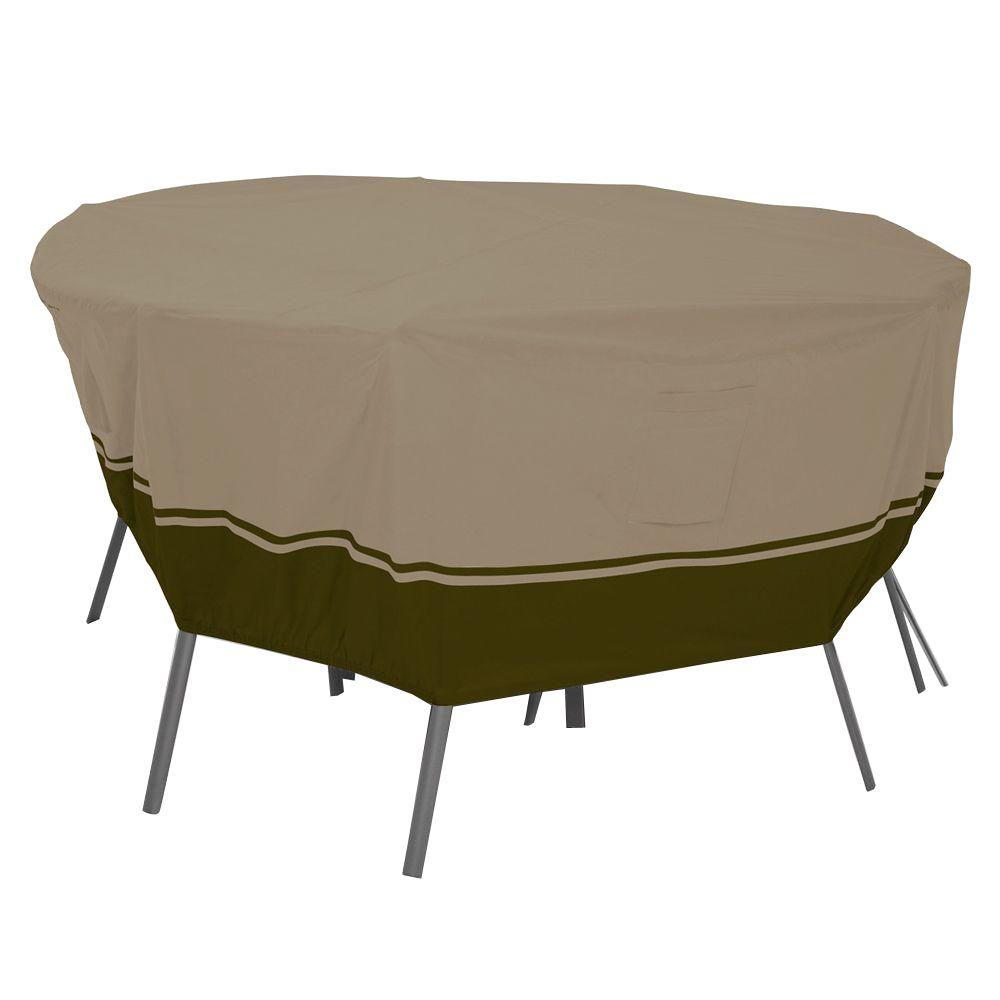 Classic Accessories Villa Round Large Patio Table and Chair Set Cover