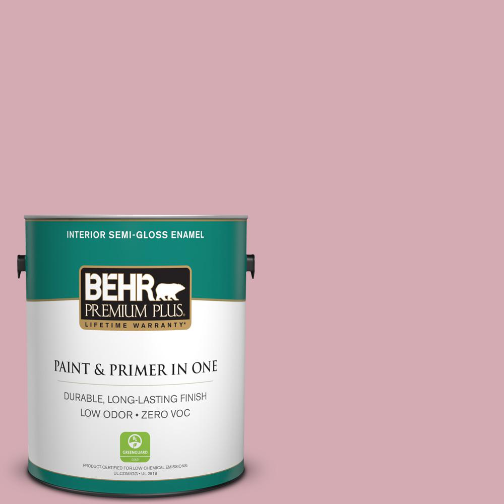 1-gal. #S130-3 Ballet Rose Semi-Gloss Enamel Interior Paint