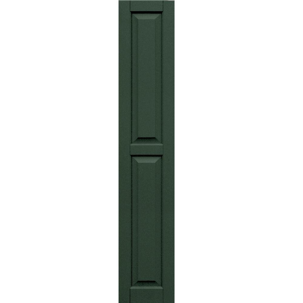 Winworks Wood Composite 12 in. x 67 in. Raised Panel Shutters Pair #656 Rookwood Dark Green