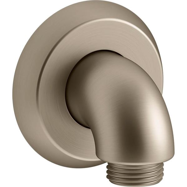 Forte 1/2 in. Brass 90-Degree Hub Wall-Mount Supply Elbow with Check Valve in Vibrant Brushed Bronze