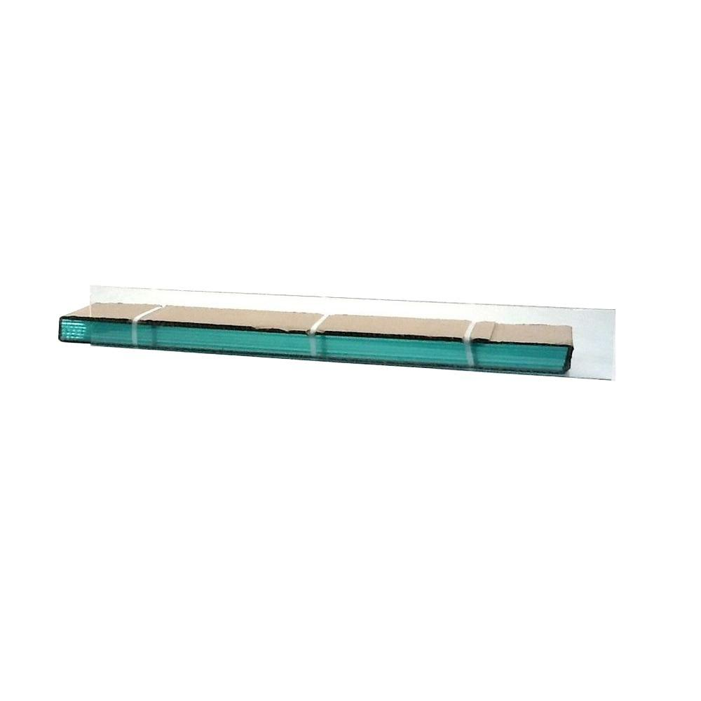 TAFCO WINDOWS 40 in. x 4 in. Jalousie Slats of Glass with Clear Polished Edges 5/CA-DISCONTINUED