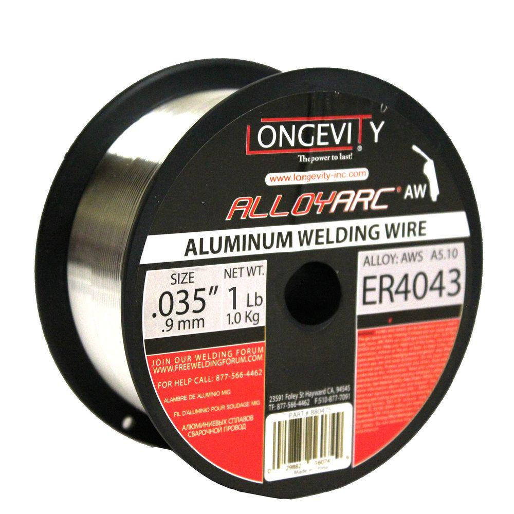Longevity 4043 0.035 in. Alloy Arc MIG 1 lb. Wire