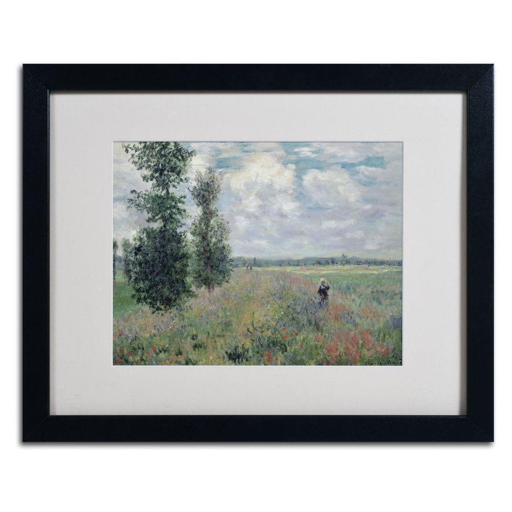 Trademark Fine Art 16 in. x 20 in. The Poppy Field Matted Black Framed Wall Art