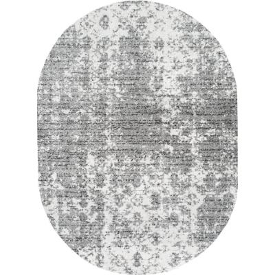 Deedra Misty Contemporary Gray 5 ft. x 8 ft. Oval Rug