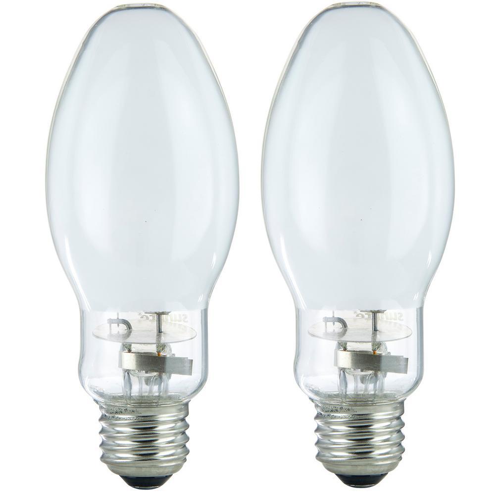 100-Watt ED17 Metal Halide Bulb E26 Base 7700 Lumens White Coated HID Light Bulb (2-Pack)