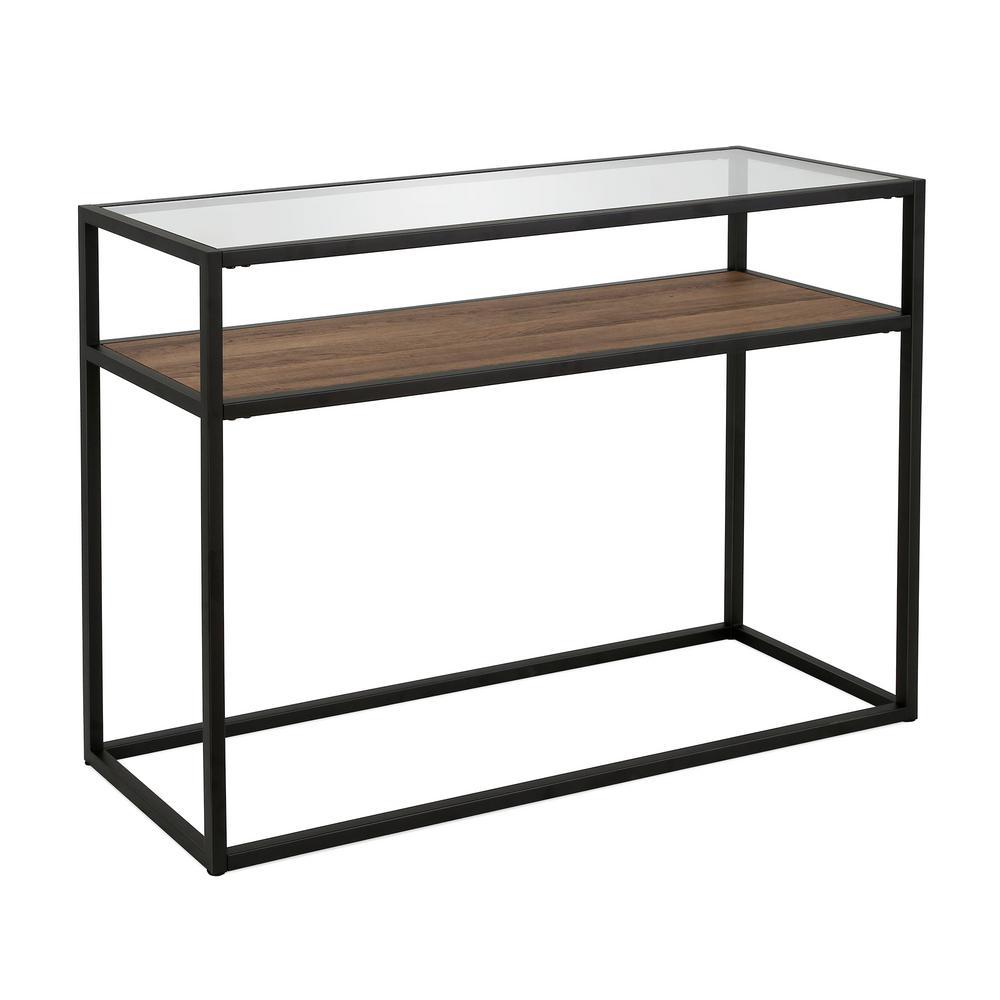 Addison Blackened Bronze and Oak Console Table