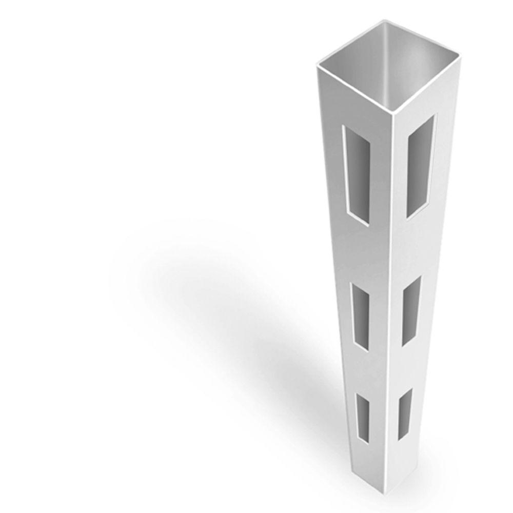 4-3/4 in  x 4-3/4 in  x 7 ft  White Vinyl Fence End Post