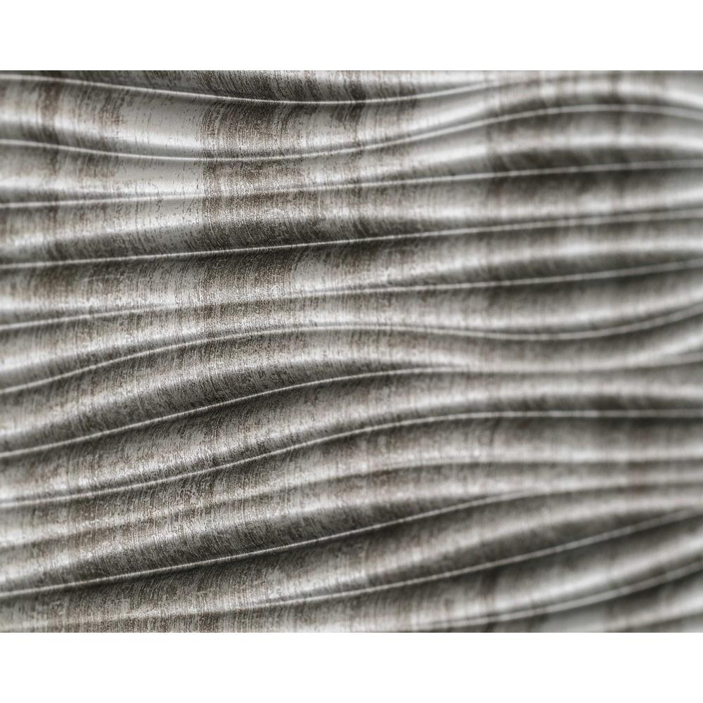 Innovera Decor by Palram Wilderness 18.5 in. x 24.3 in. PVC Backsplash Panel in Crosshatch Silver