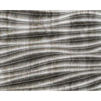 Wilderness 18.5 in. x 24.3 in. PVC Backsplash Panel in Crosshatch Silver