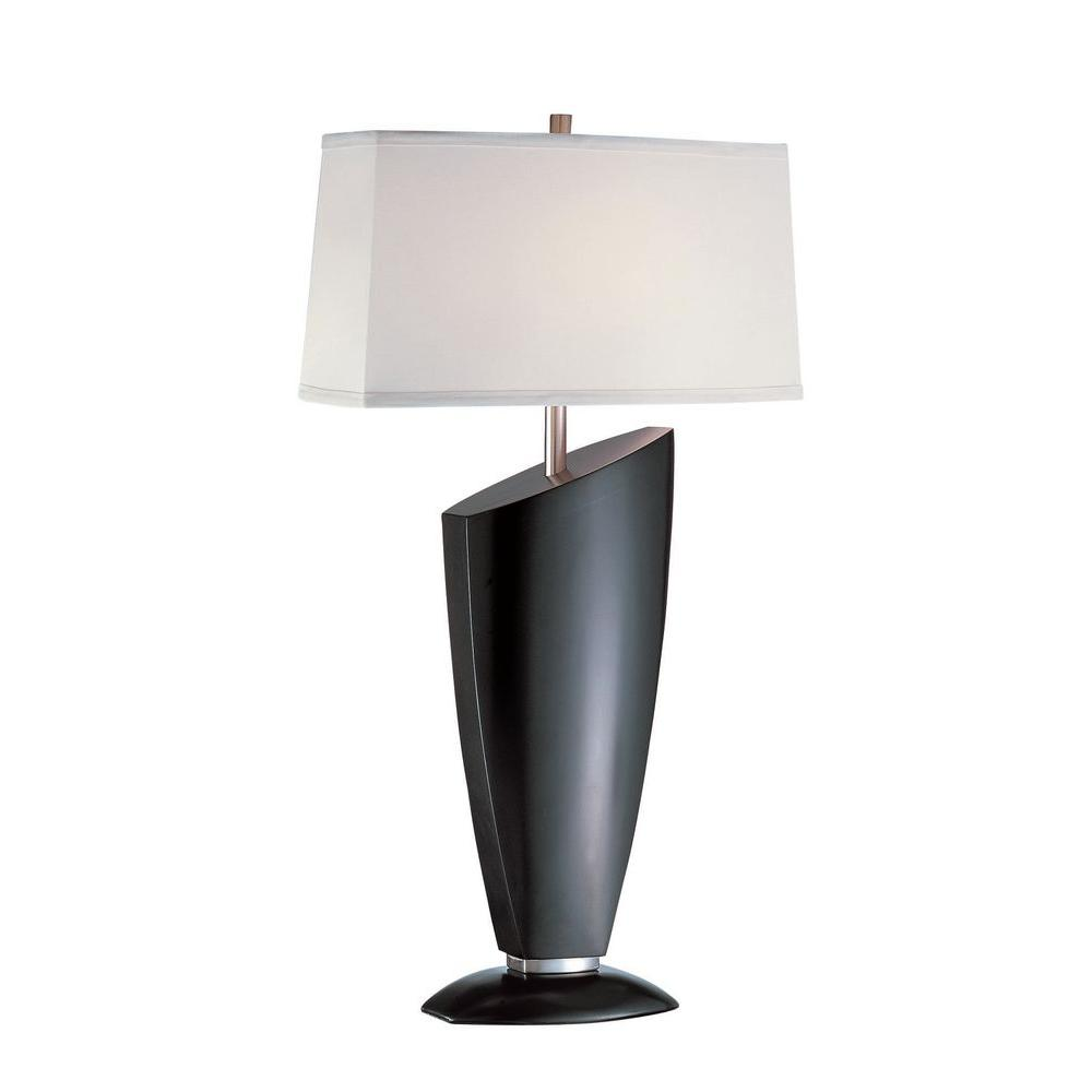Illumine 31.5 in. Dark Walnut Table Lamp