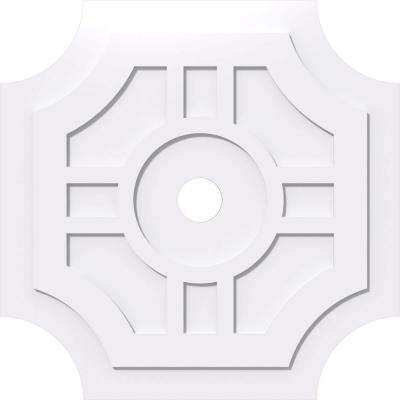 36 in. OD x 4 in. ID x 1 in. P Haus Architectural Grade PVC Contemporary Ceiling Medallion