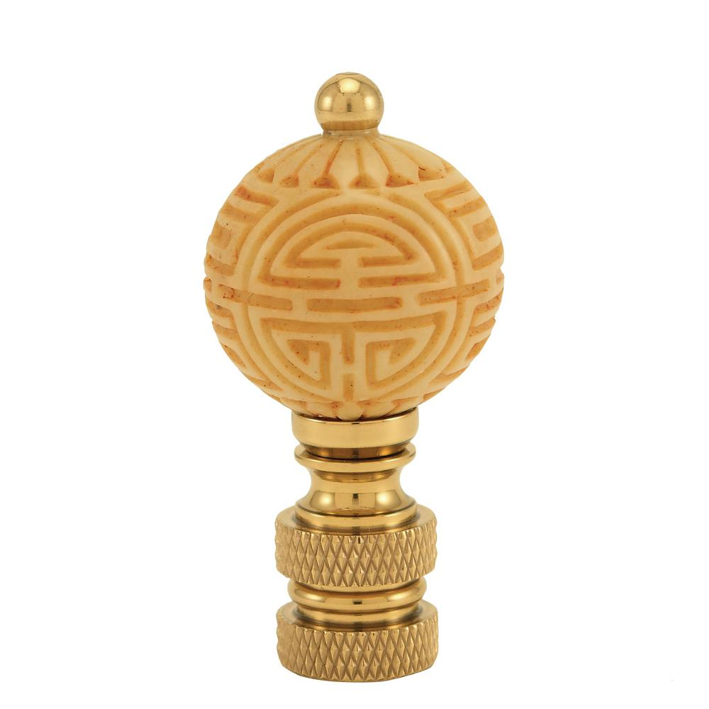 Mario Industries Ivory Ball Lamp Finial