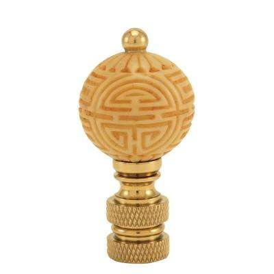 Ivory Ball Lamp Finial