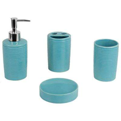 Turquoise Bathroom Accessory Sets